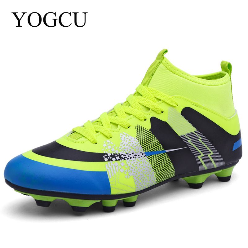 Yogcu Superfly Football Boots Chuteira Futebol Soccer Shoes With Sock Men Kids Boys Soccer Cleats Superfly High Ankles Sneakers Soccer Boots Football Boots Kids Football Boots