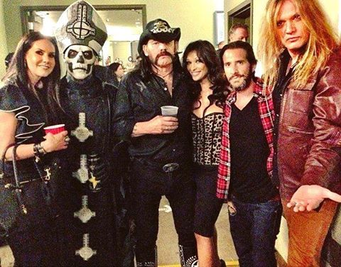 """Not @thebandghost related but we're sad to hear the passing of legendary bassist Ian """"Lemmy"""" Kilmister. Lemmy was a kick ass bass player & we know his music will live on forever. RIP Lemmy ・・・ #Ghost #GhostBC #TheBandGhost #GhostTheBand #GhostBand..."""