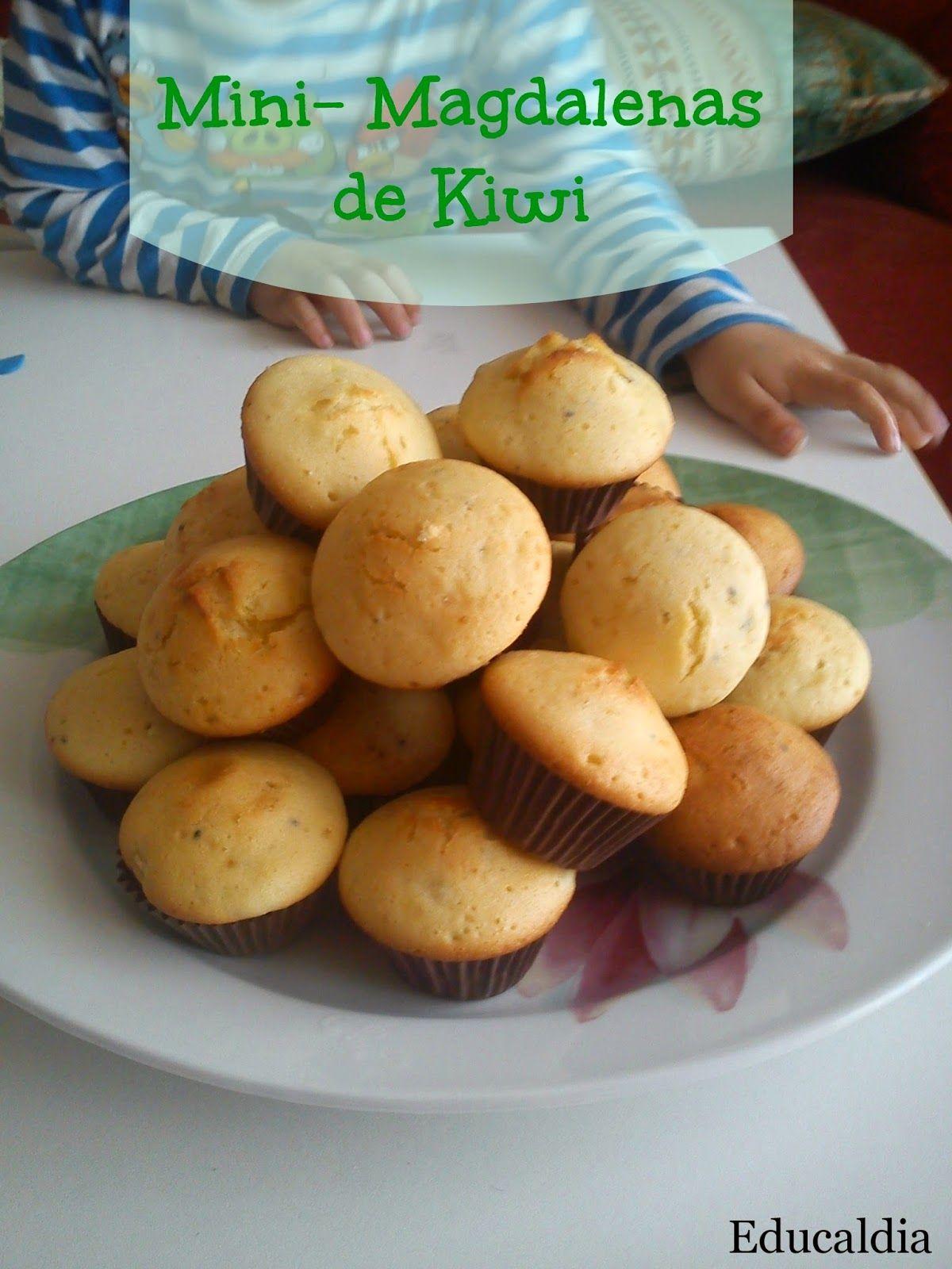 Educaldia Cocinar Con Ninos Mini Magdalenas De Kiwi Mini Magdalenas Recetas De Comida Magdalenas