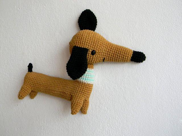 pica-pau: amigos   AMIGURIMI   Perros, Croché y Perro salchicha