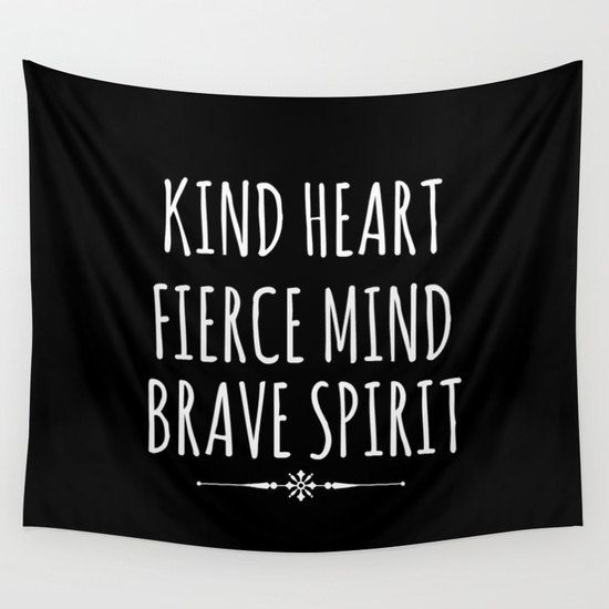 Black And White Quote Tapestry Wall Hanging By