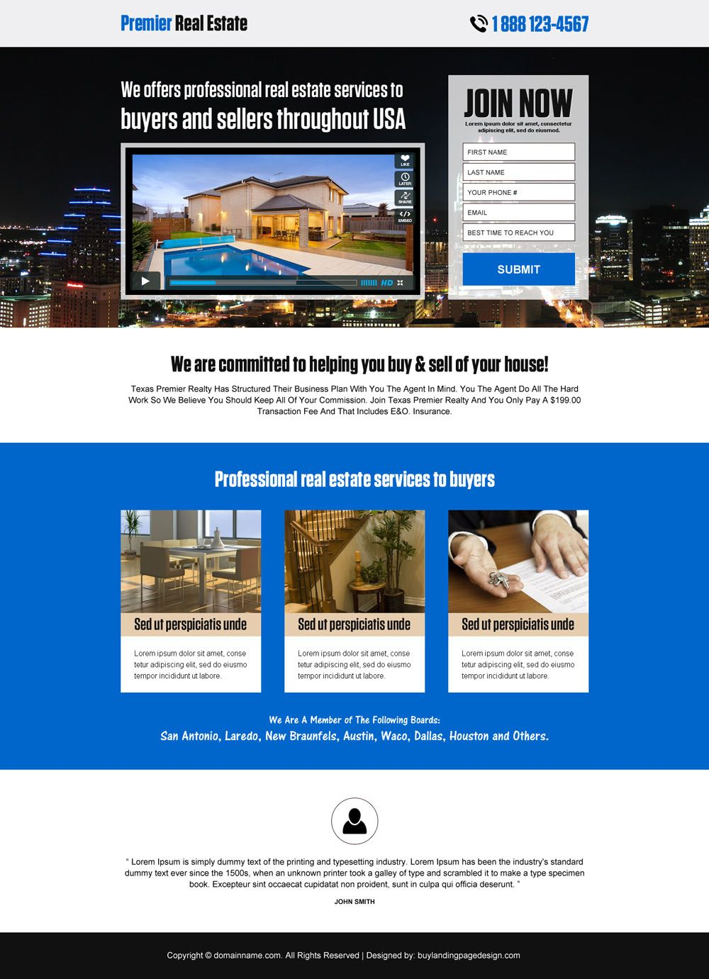 Premier Real Estate Responsive Landing Page Design Real Estate Landing Pages Real Estate Website Real Estate Leads