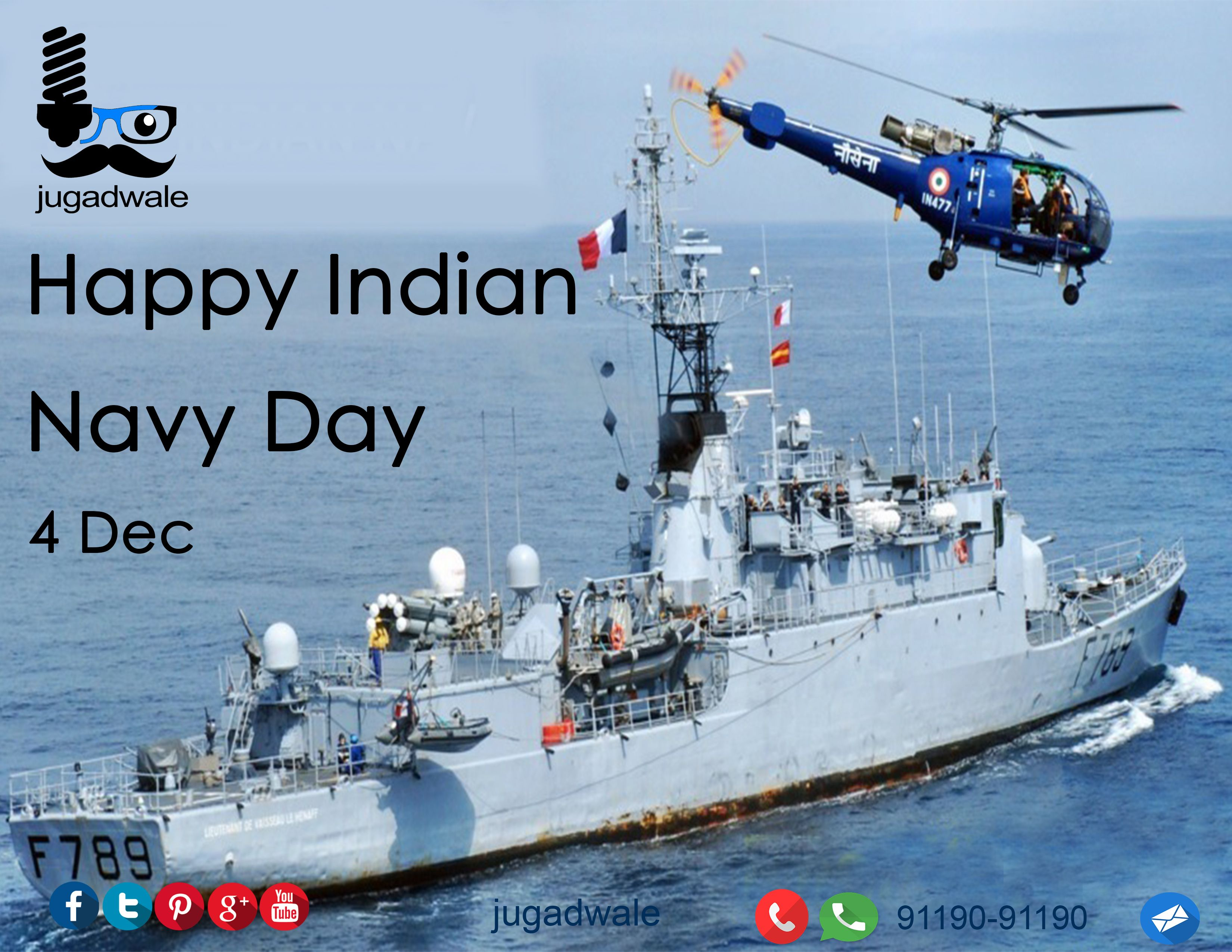 Jugadwale Salutes Our Navy On Navy Day Indiannavyday Indian Navy Day Navy Day Indian Navy