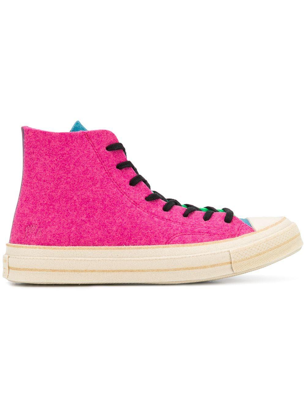 b5d442cca4e5 CONVERSE CONVERSE X JW ANDERSON CHUCK  70 HI SNEAKERS - PINK.  converse   shoes