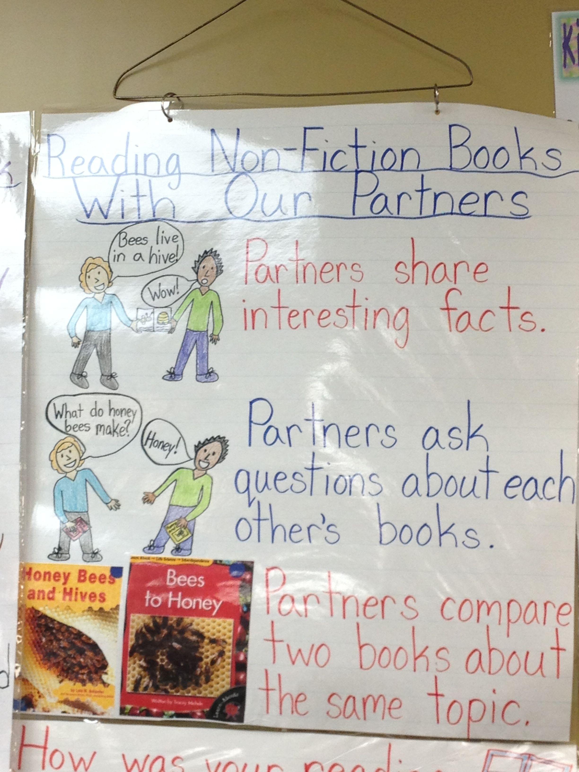 Non Fiction Partner Chart I Made For Reading Workshop