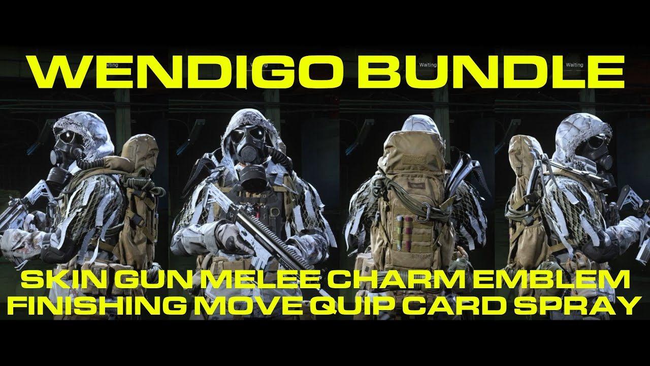 Brand New Showcase Wendigo Bundle C A L L O F D U T Y M O D E Wendigo Modern Warfare Infinity Ward