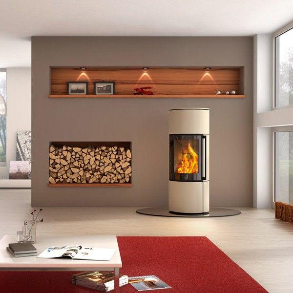 Kaminofen Spartherm Ambiente A3 6kW - Verkleidung Stahl Perle - ofen für wohnzimmer
