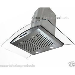"GTC New 30"" Wall Mount Stainless Steel Glass Range Hood Vents 760 CFM"