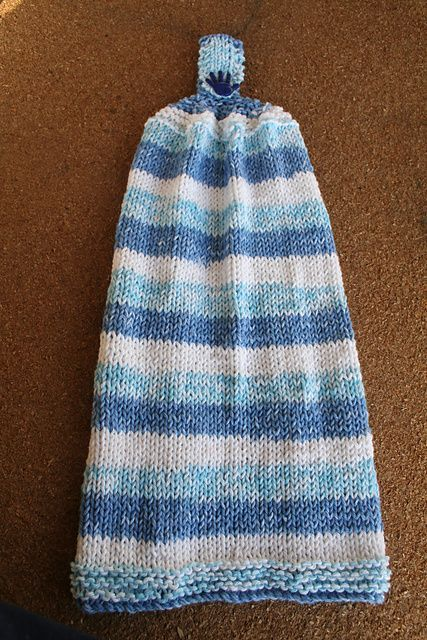 Ravelry: Simply Striped Kitchen Hanging Hand Towel pattern by Cathy ...