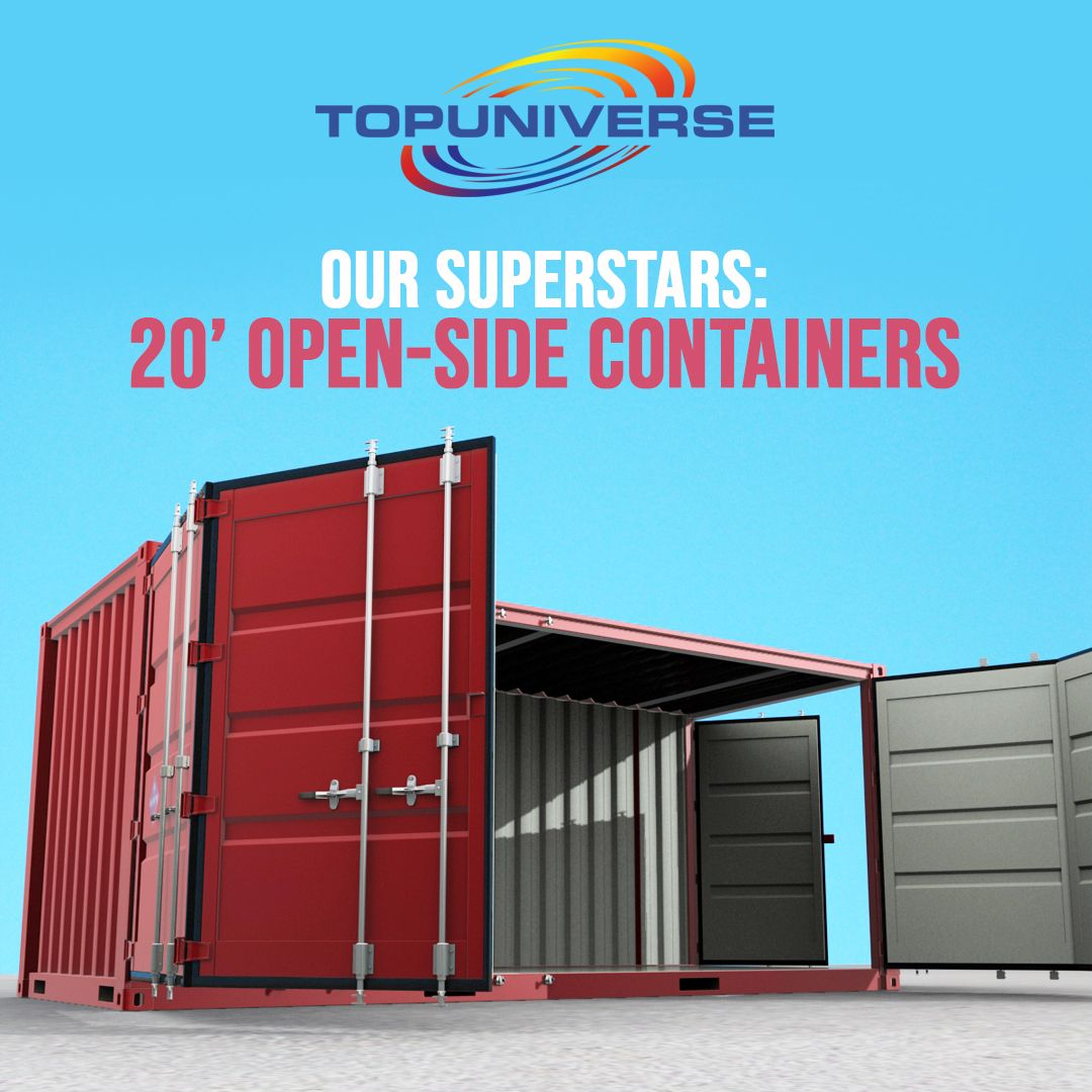 Our 20foot openside containers are an excellent choice