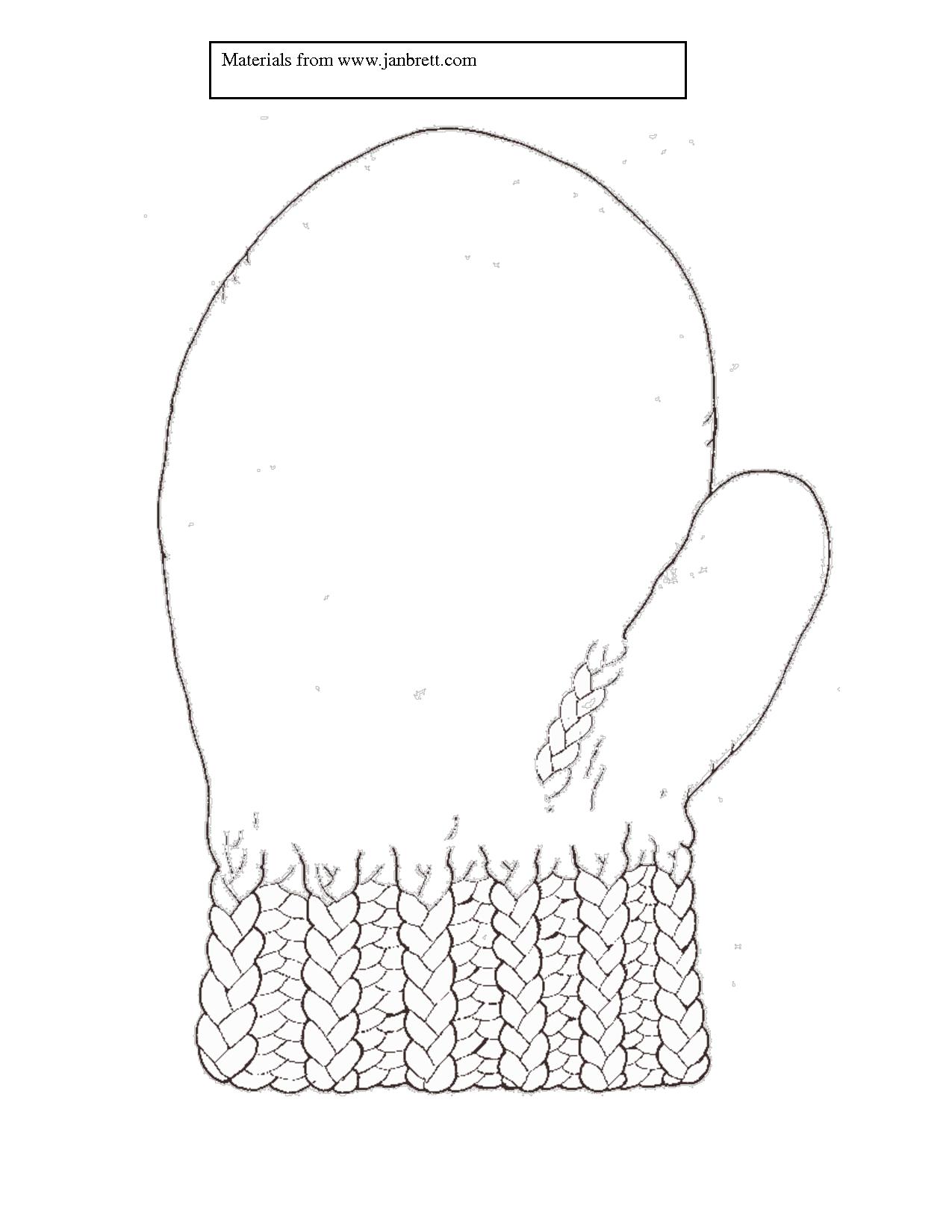 blank mitten template Snow crafts, Mittens template