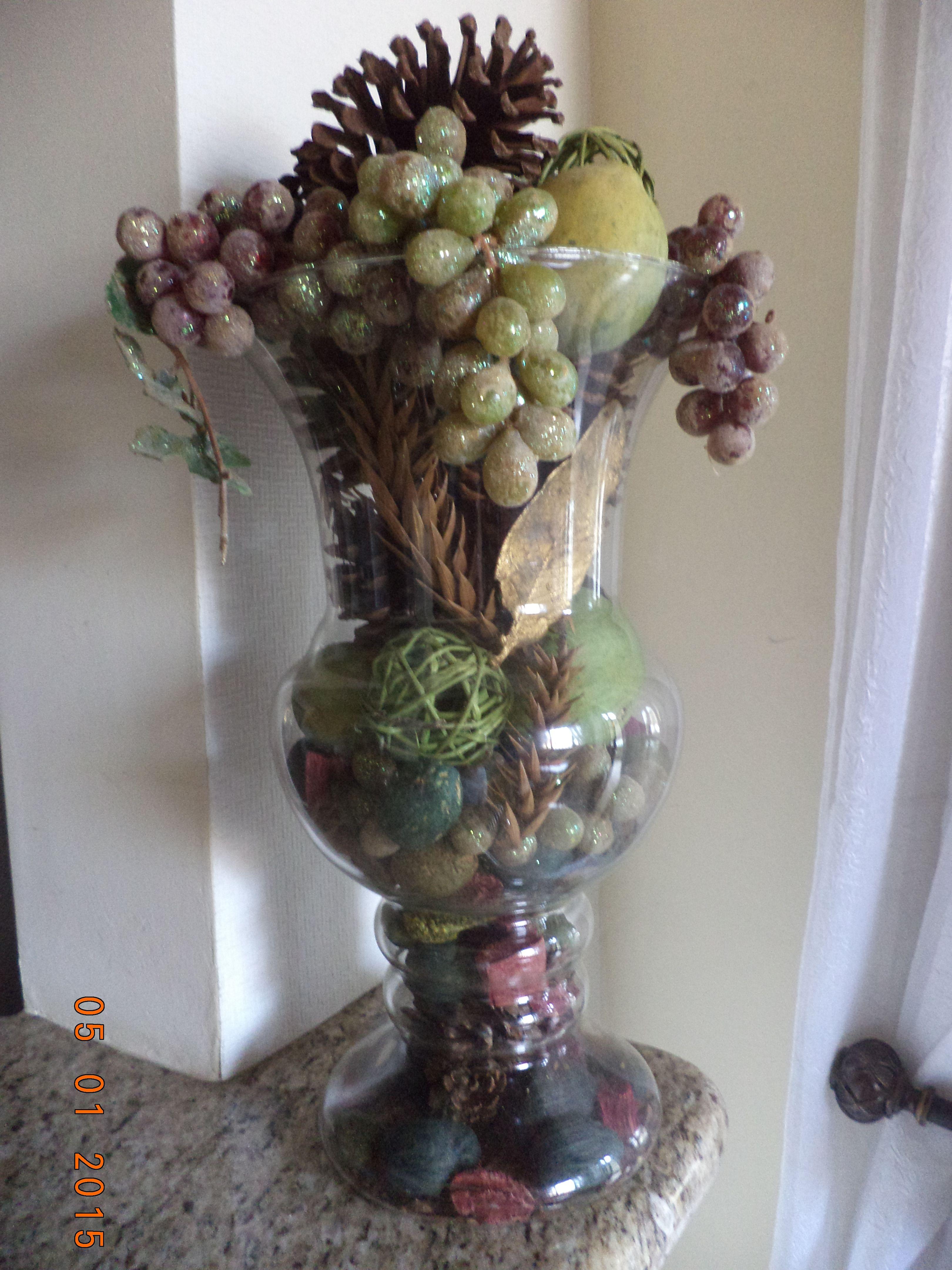 Um Grande Vaso Transparente Aqueles De Vidro Bem Leve E Barato