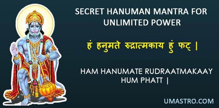 Secret Hanuman Mantra