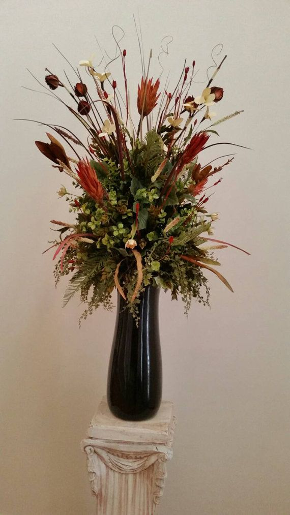 Extra Large Silk Fl Arrangement Transitional Contemporary Elegant Cinnamon E Exotic Tall Foy