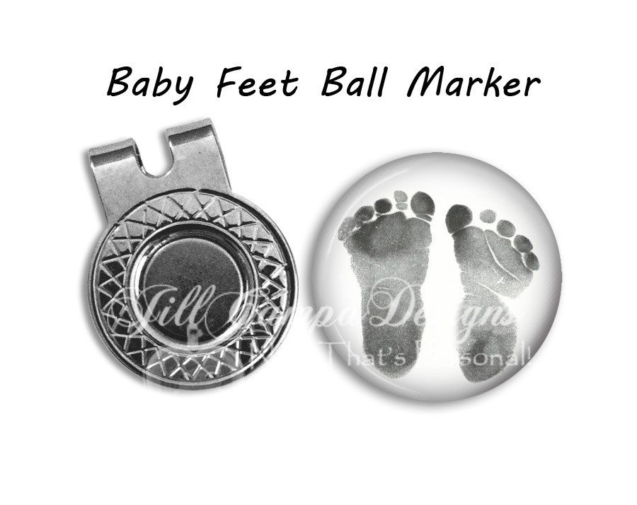 7693f200cd4 BABY FOOTPRINT golf ball marker - your baby s footprints - Custom photo Golf  Ball Marker   hat clip set - golf ball marker - Photo marker by ...
