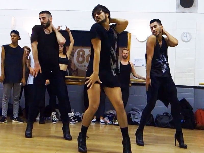 fbff3f206 Men at Work: Watch 3 Guys in High Heels Flawlessly Dance to the Pussycat  Dolls