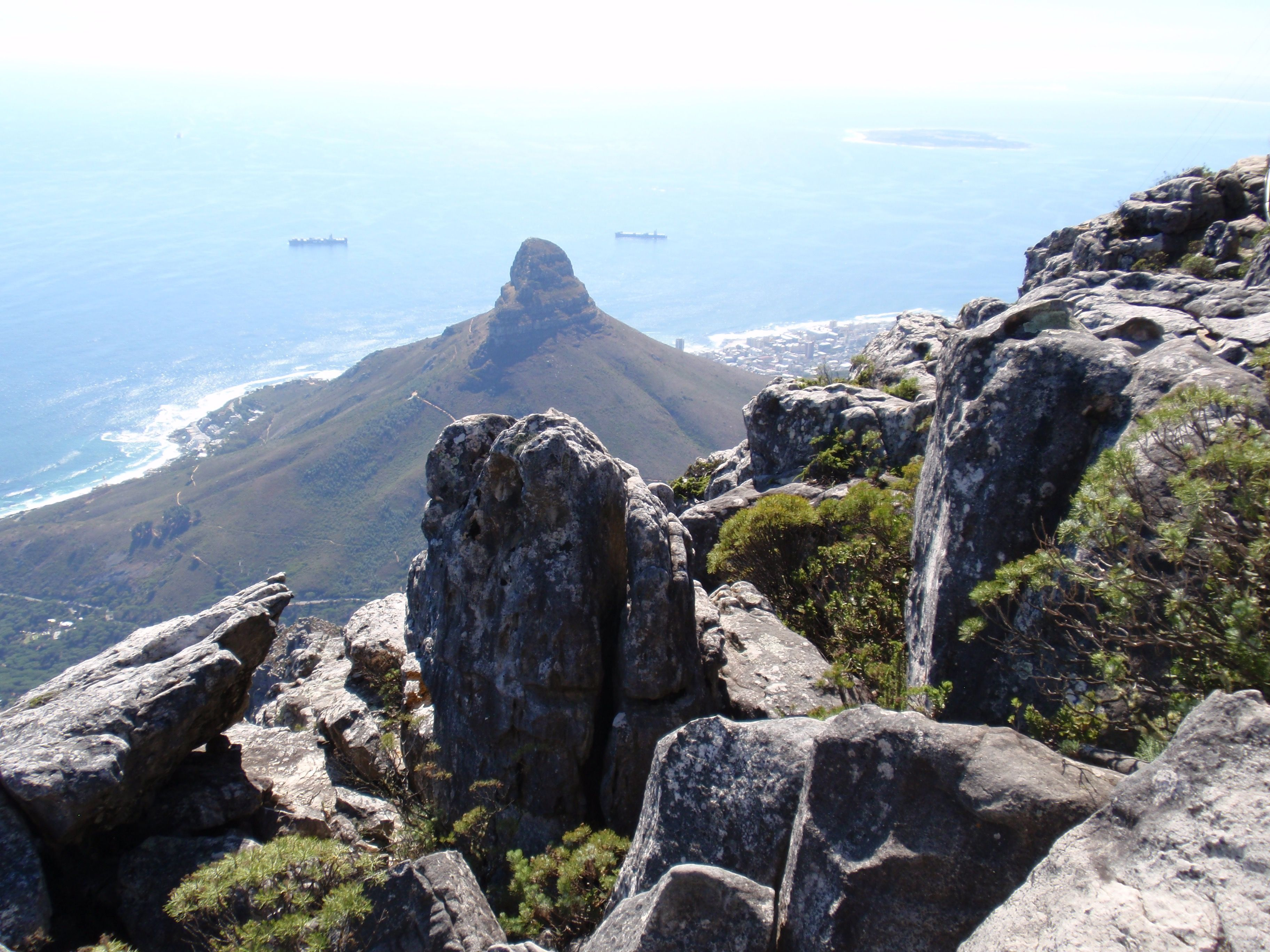 Cape Town South Africa from top of Table Mountain