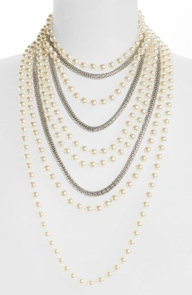 Topshop Multirow Necklace