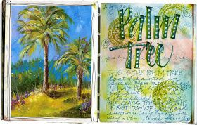 Art du Jour by Martha Lever: Palm Tree Journal Page