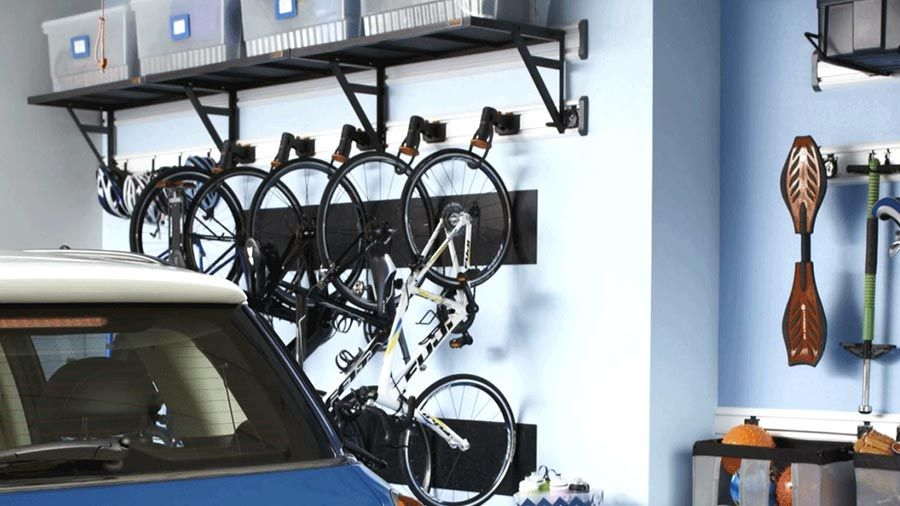 Organizing Your Garage Ideas Part - 45: Does Your Garage Need A Storage Boost? See How This Space Accommodates  Sports Equipment,