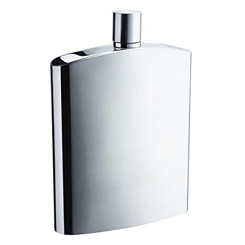 Savage 8oz Hip Flask in Calender Finished 188 Stainless Steel * Continue to the product at the image link.