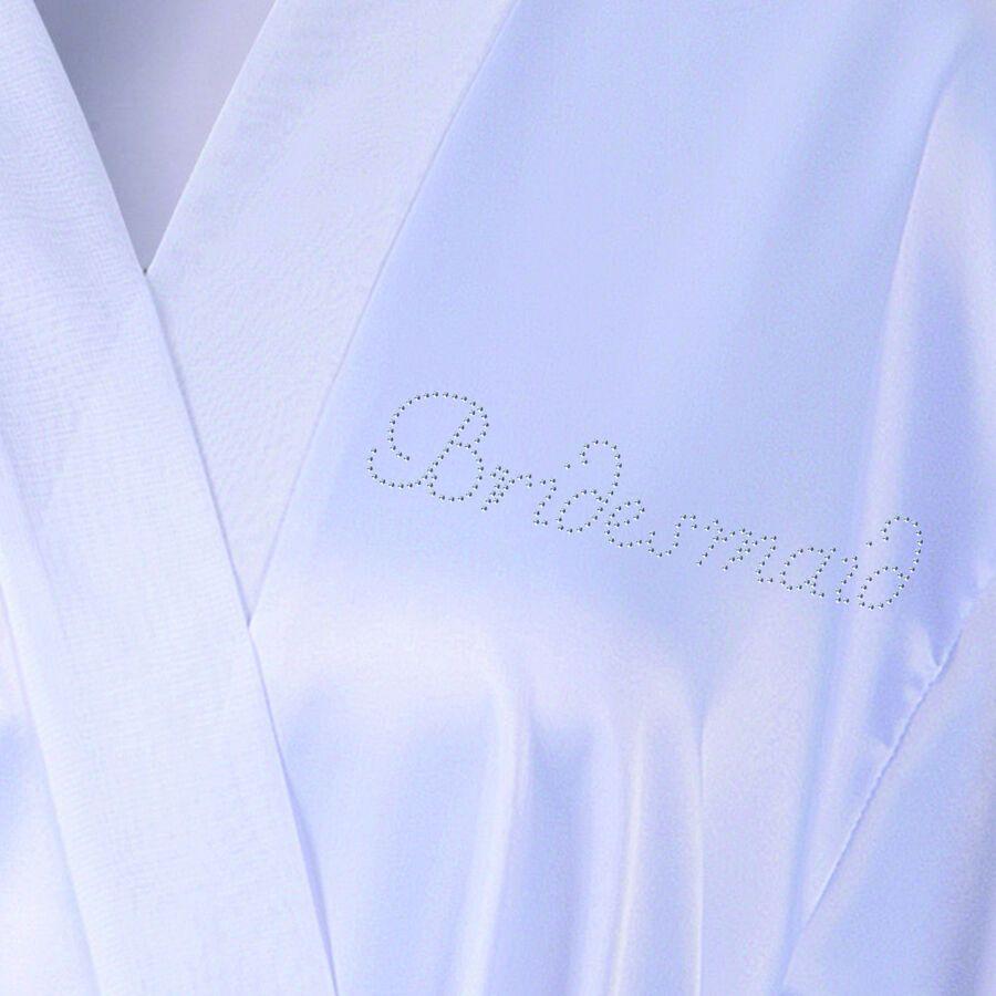 Personalised Crystal Bridesmaid Robe Tote Bag Luxury Wedding Bathrobe Set 2 Ad Affiliate Robe Amp Brides Bridesmaid Robes Satin Wedding Gowns Dresses