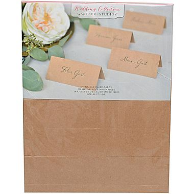 Gartner Studios Kraft Printable Placecards 8 1 2 X 11 48 Count 16704 At Staples Printable Place Cards Place Cards Cards