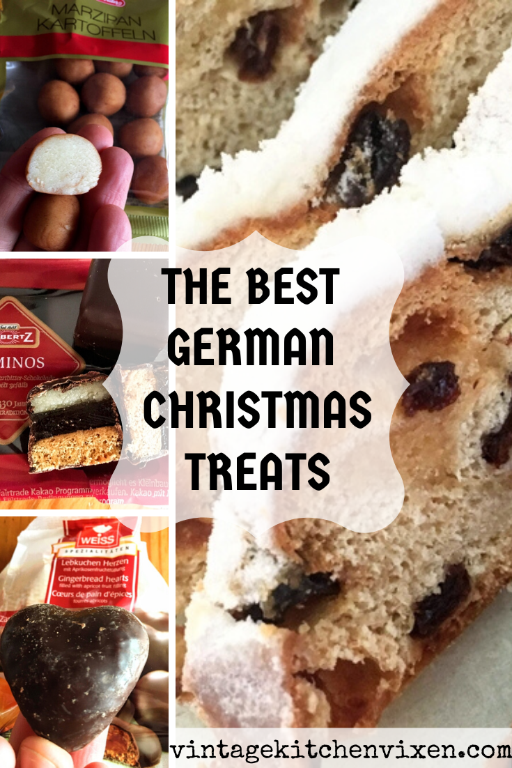 From marzipan to lebkuchen, these German Christmas treats make excellent stocking stuffers. Served on a platter, they make it especially easy to surprise and delight guests with something special and sweet. #christmastreats #germanchristmastreats #christmasdesserts #stockingstufferideas #stockingstuffers