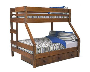 Bunkers Treble Bunk Bed With Underbed Drawers Hut Pinterest