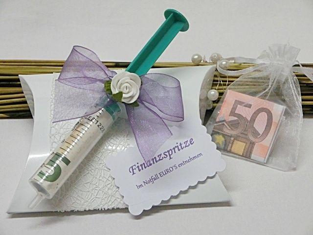 Geschenkbox/Geldgeschenk **Finanzspritze** von Festtags-Shop auf DaWanda.com #funnygifts