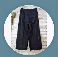 RUNDHOLZ Lagenlook  Black Label Cotton Linen Wide Leg Black Pants size M