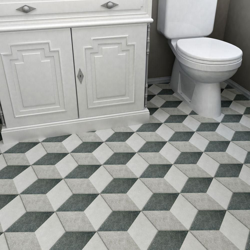 Merola tile traffic hex 3d grey 8 58 in x 9 78 in porcelain merola tile traffic hex 3d grey 8 58 in x 9 78 in porcelain floor and wall tile 1119 sq ft case multicolored greylow sheen dailygadgetfo Choice Image