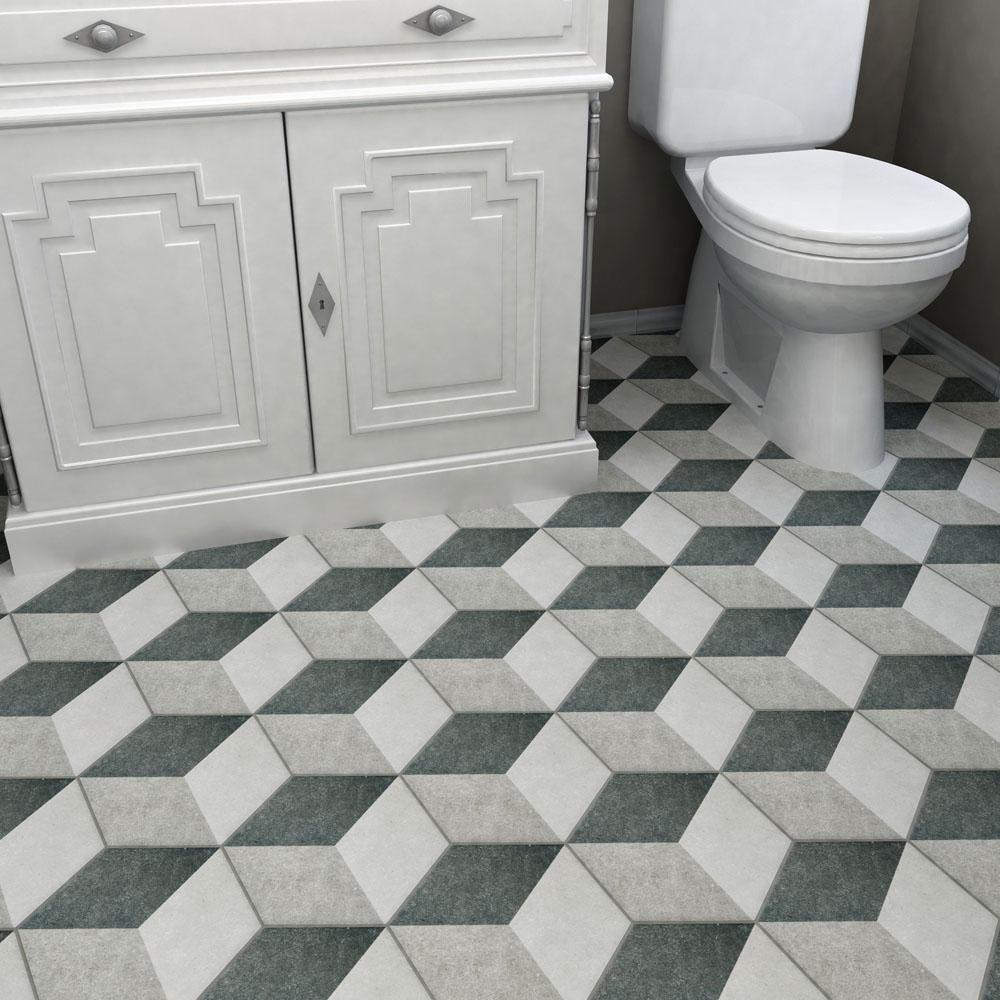 merola tile traffic hex 3d grey 8 5 8