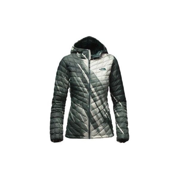 34f511f7d8 The North Face Women s THERMOBALL Hooded Jacket (405 BGN) ❤ liked on  Polyvore featuring