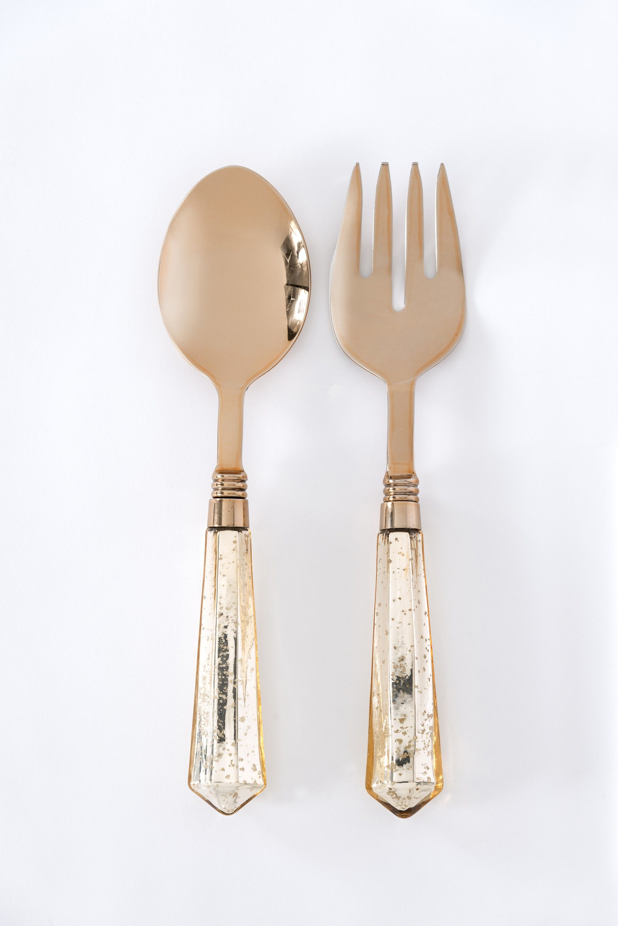 Take your party to the next level with our rose gold salad servers