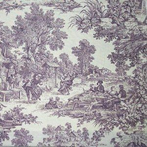54 Wide Fabric House Party Plumb Laura Ashley Toile Fabric By The