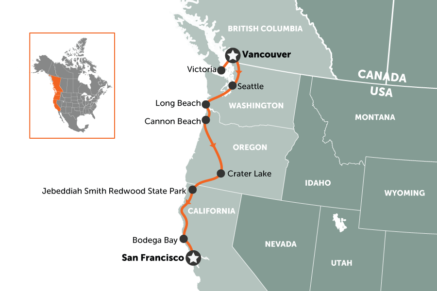 West Coast USA road trip: Vancouver to San Francisco in 2 ...