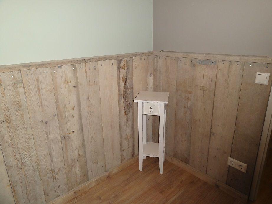 Lambrisering gebruikt steigerhout bestel het hout op for the home www - Binnen deco ...