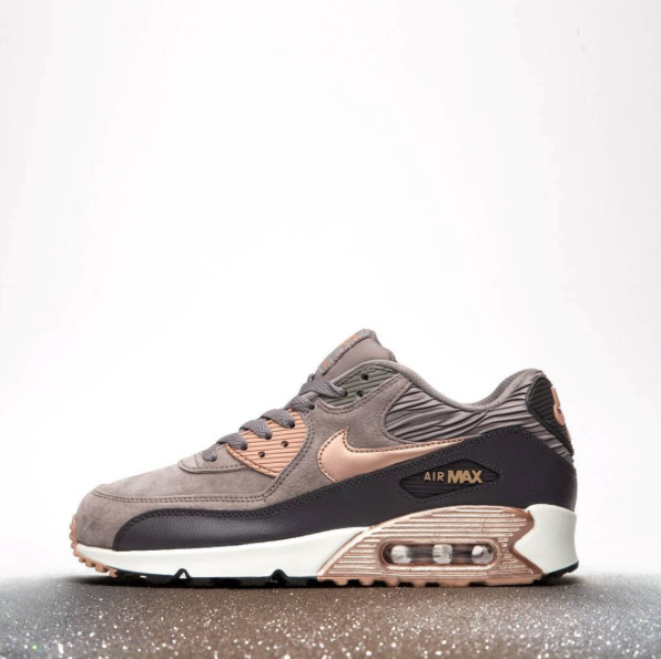 nike air max 90 womens grey and bronze living