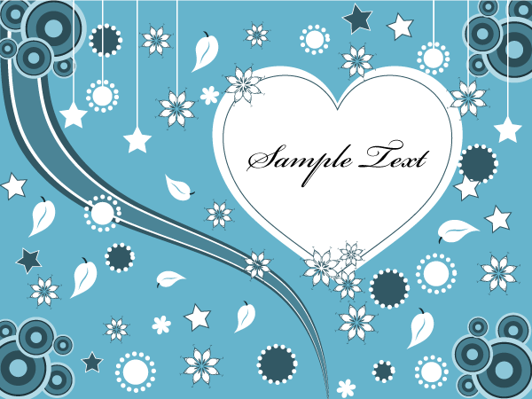 Lovely Valentine Heart Greeting Card Vector Valentine Greeting Cards Valentines Greetings Valentines Day Card Templates