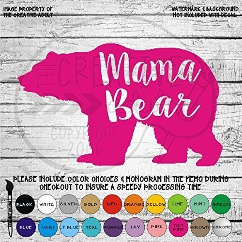 Mama+Bear+Vinyl+Die+Cut+Decal+Sticker+for+Car+Laptop+etc HANDMADE