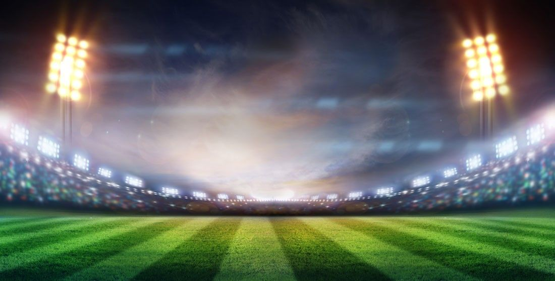 In The Spotlight Wall Mural Sports Football A Large Stadium