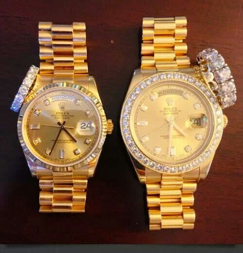His and Hers Rolex; great wedding presents to each other