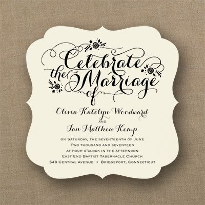 Celebrate Marriage Invitation Ecru Marriage Invitations