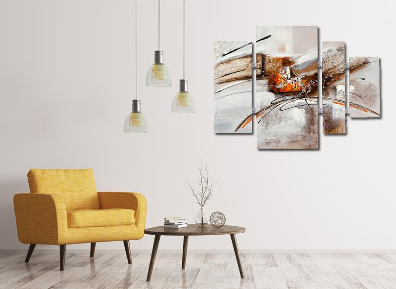 4 luik schilderij modern 80x109   Interieur Inspiratie   Pinterest