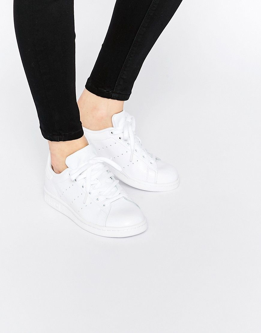 Image 1 of adidas Originals Triple White Stan Smith Sneakers