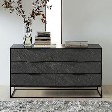 Slate Industrial 6 Drawer Dresser Furniture Inspo