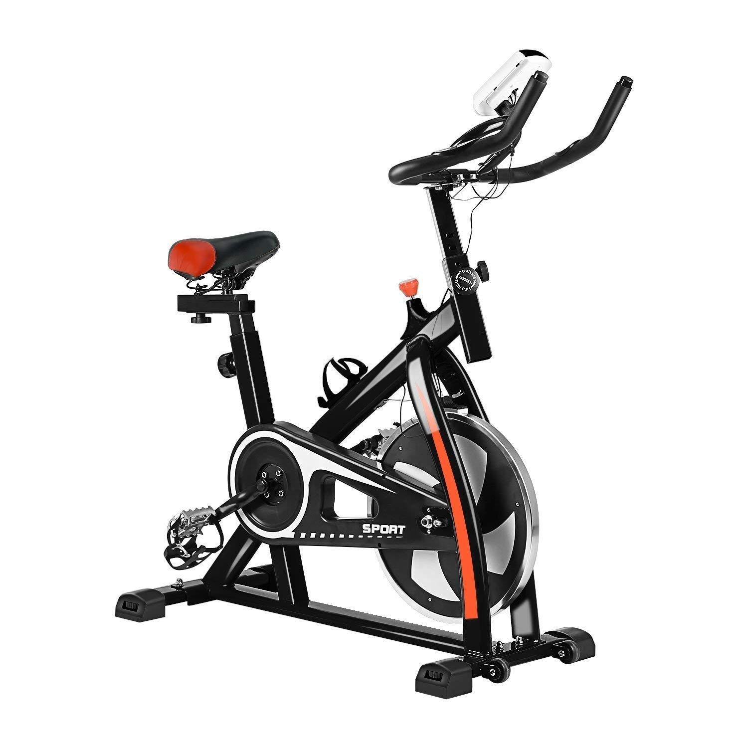 Graspwind Indoor Cycling Bike Exercise Bicycle Heart Pulse W Led
