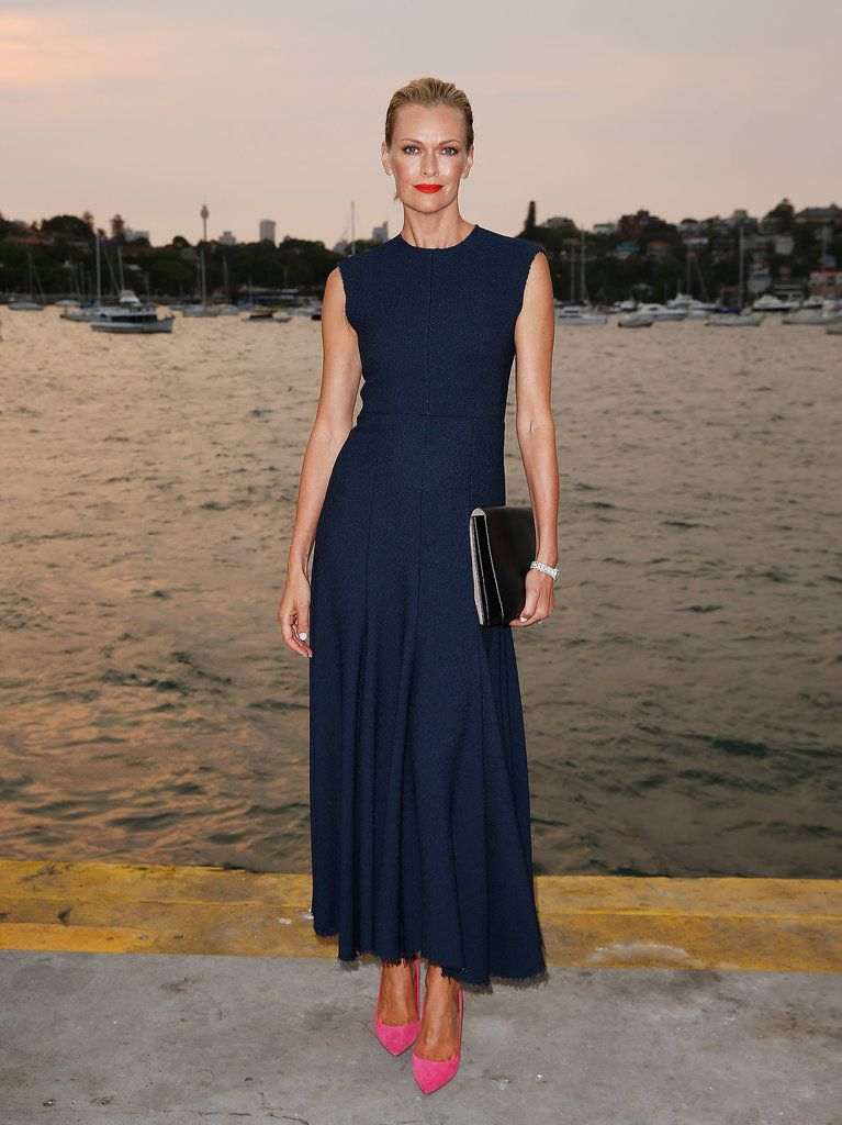 Erica packer wears her vogue cover dress to a fancy party