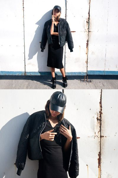 Haute Life. All back. Leather hat.